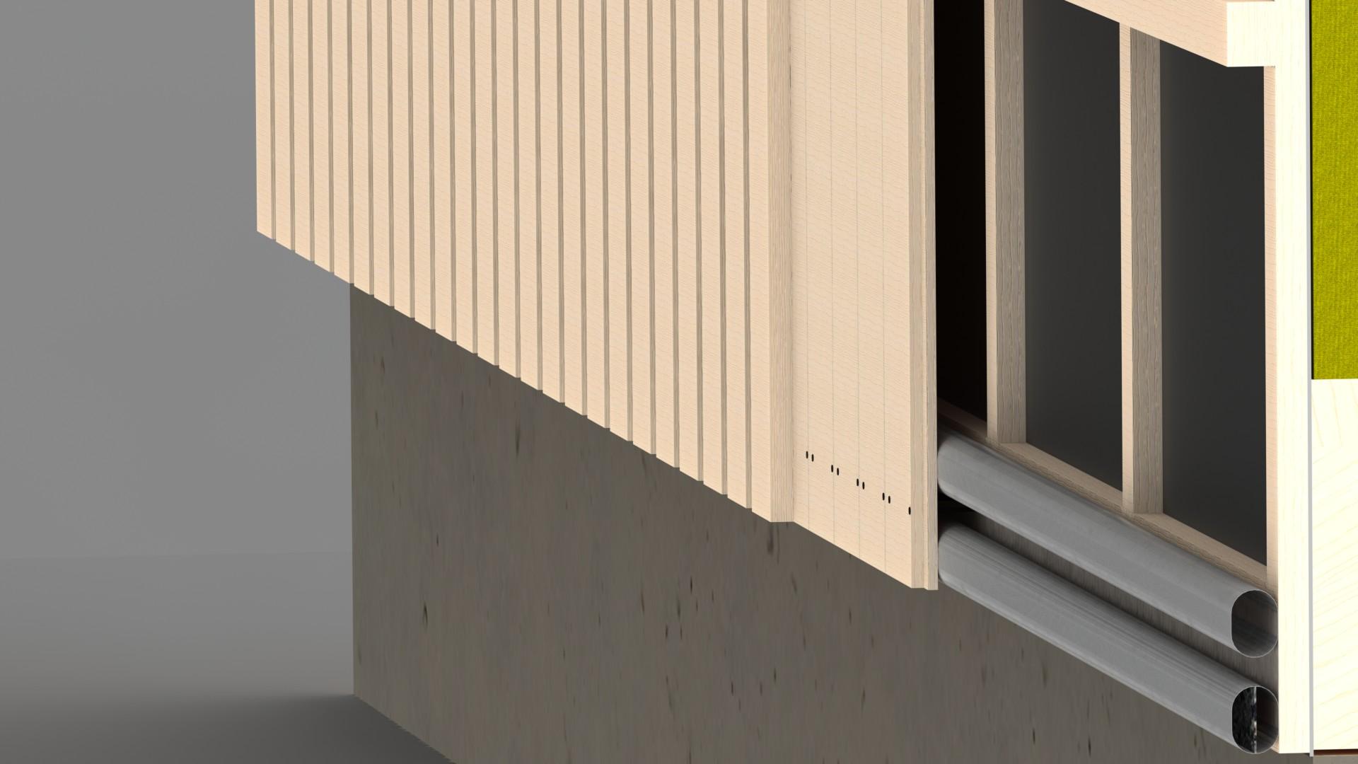 FB Luftspaltsventil i fasad